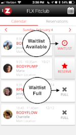 Waitlist example